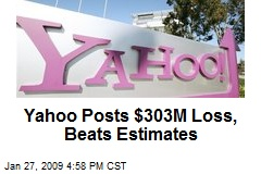 Yahoo Posts $303M Loss, Beats Estimates