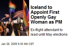 Iceland to Appoint First Openly Gay Woman as PM