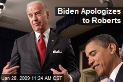Biden Apologizes to Roberts