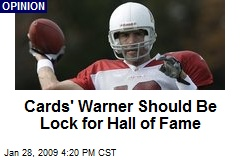 Cards' Warner Should Be Lock for Hall of Fame