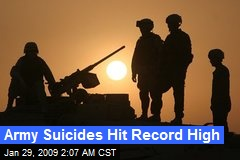 Army Suicides Hit Record High