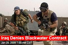 Iraq Denies Blackwater Contract