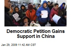 Democratic Petition Gains Support in China