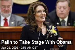 Palin to Take Stage With Obama