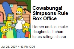 Cowabunga! Simpsons Rule Box Office