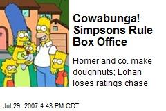 Cowabunga! Simpsons Rule Box Office