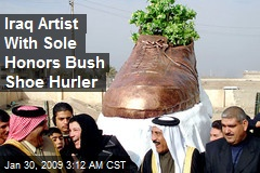 Iraq Artist With Sole Honors Bush Shoe Hurler