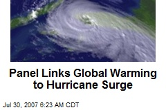 Panel Links Global Warming to Hurricane Surge