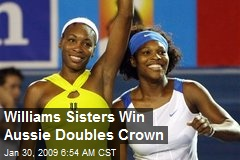 Williams Sisters Win Aussie Doubles Crown