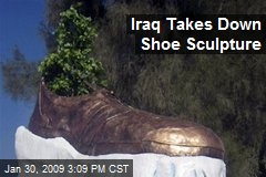 Iraq Takes Down Shoe Sculpture