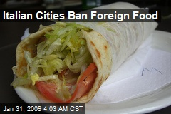 Italian Cities Ban Foreign Food