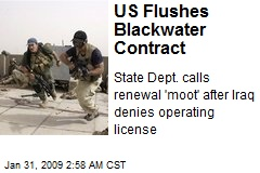 US Flushes Blackwater Contract