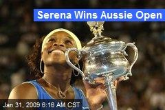 Serena Wins Aussie Open