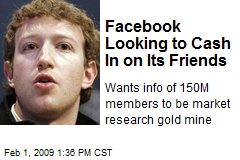 Facebook Looking to Cash In on Its Friends