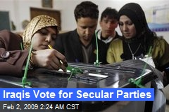 Iraqis Vote for Secular Parties
