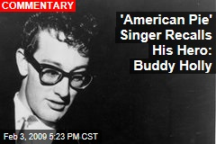'American Pie' Singer Recalls His Hero: Buddy Holly