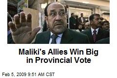 Maliki's Allies Win Big in Provincial Vote