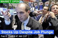 Stocks Up Despite Job Plunge