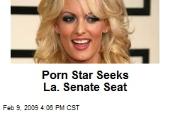 Porn Star Seeks La. Senate Seat