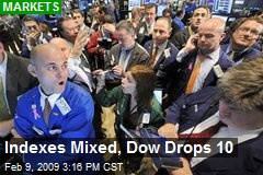 Indexes Mixed, Dow Drops 10