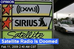 Satellite Radio Is Doomed