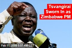 Tsvangirai Sworn In as Zimbabwe PM