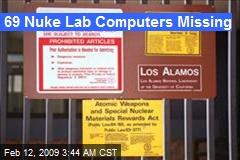 69 Nuke Lab Computers Missing