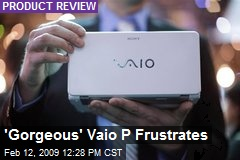 'Gorgeous' Vaio P Frustrates