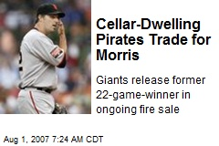 Cellar-Dwelling Pirates Trade for Morris