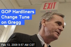 GOP Hardliners Change Tune on Gregg