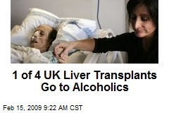 1 of 4 UK Liver Transplants Go to Alcoholics