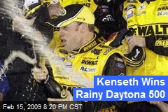 Kenseth Wins Rainy Daytona 500