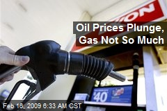 Oil Prices Plunge, Gas Not So Much