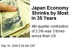 Japan Economy Shrinks by Most in 35 Years