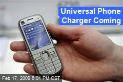 Universal Phone Charger Coming