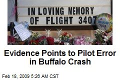Evidence Points to Pilot Error in Buffalo Crash