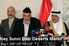 Key Sunni Bloc Deserts Maliki