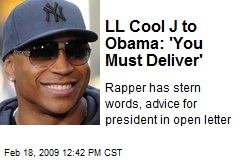 LL Cool J to Obama: 'You Must Deliver'