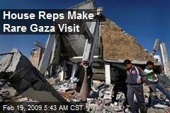 House Reps Make Rare Gaza Visit