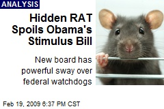Hidden RAT Spoils Obama's Stimulus Bill