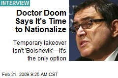 Doctor Doom Says It's Time to Nationalize