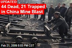 44 Dead, 21 Trapped in China Mine Blast