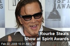 Rourke Steals Show at Spirit Awards