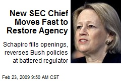 New SEC Chief Moves Fast to Restore Agency