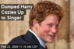 Dumped Harry Cozies Up to Singer