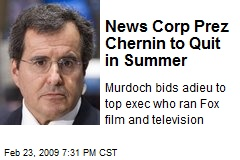 News Corp Prez Chernin to Quit in Summer