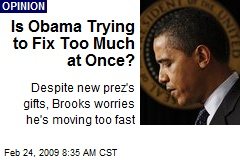 Is Obama Trying to Fix Too Much at Once?