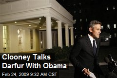 Clooney Talks Darfur With Obama