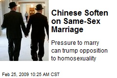Chinese Soften on Same-Sex Marriage