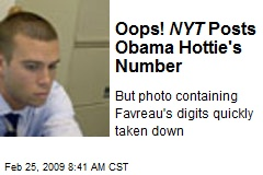Oops! NYT Posts Obama Hottie's Number